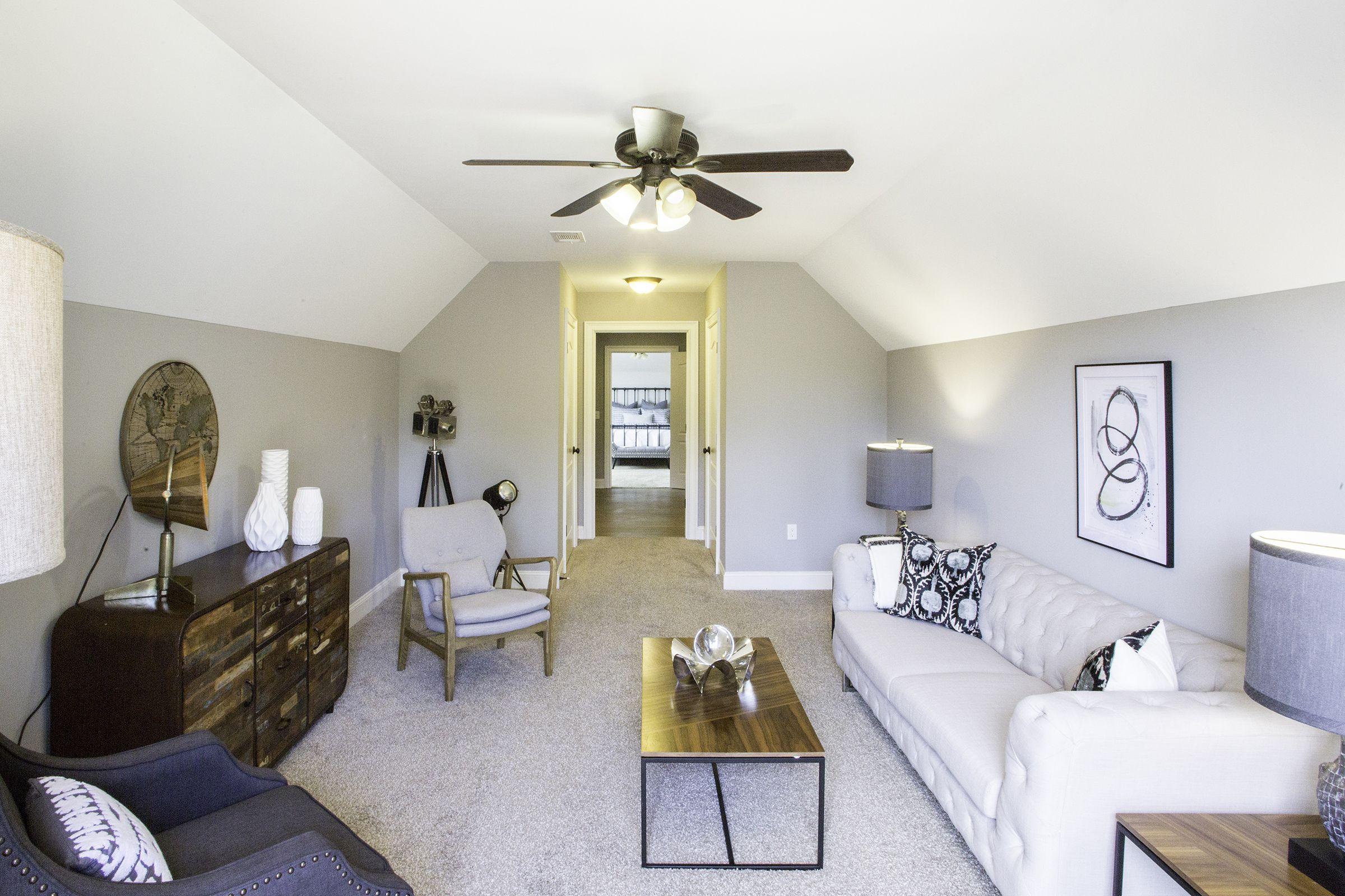 Bonus room staging by Blairhaus Interiors & Home Staging