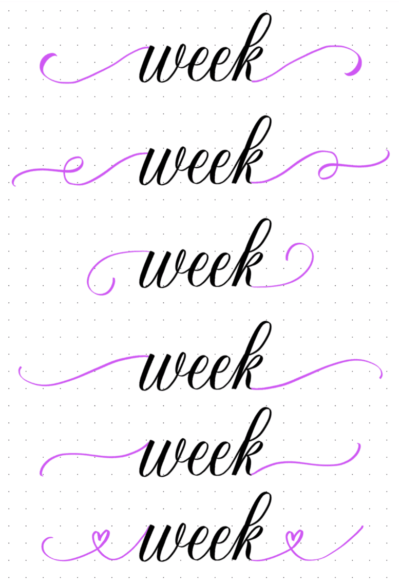 How To Do Calligraphy Flourishing (+ Free Worksheets) | Lettering Daily