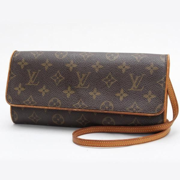 Louis Vuitton Pochette Twin GM Monogram Cross body bags Brown Canvas M51852
