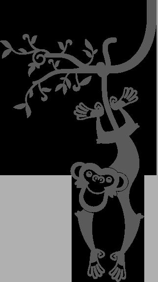 sticker mural g ant singe pour chambres b b s et enfants chambre de max. Black Bedroom Furniture Sets. Home Design Ideas
