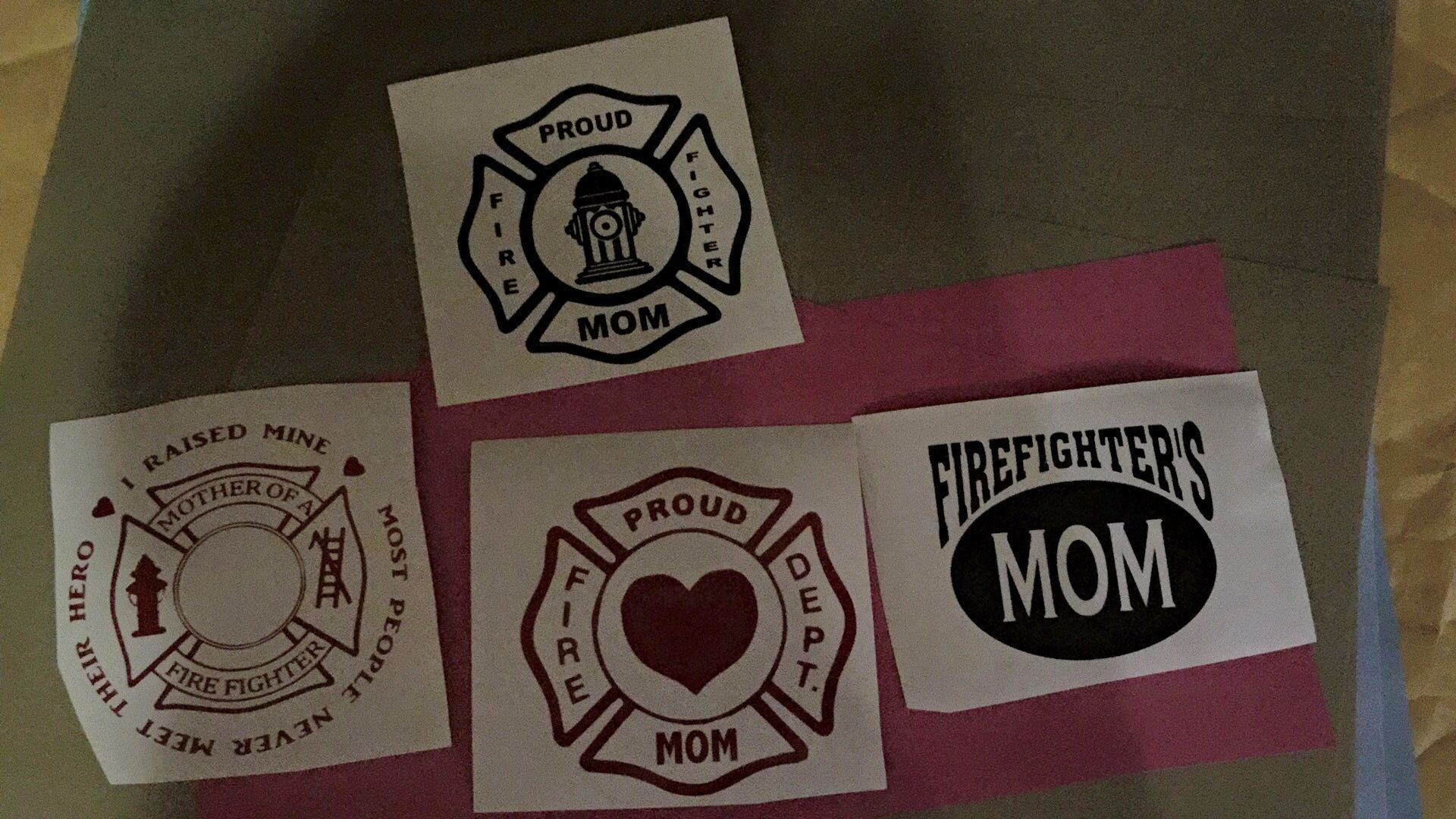 Fire Fighter Decal 4inch round