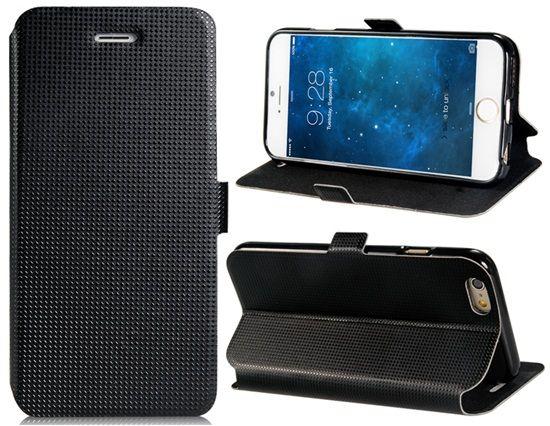4cb63d56cf8 Funda Iphone 6 Negra Acicalada Tipo Cartera Tarjetero | Fundas ...