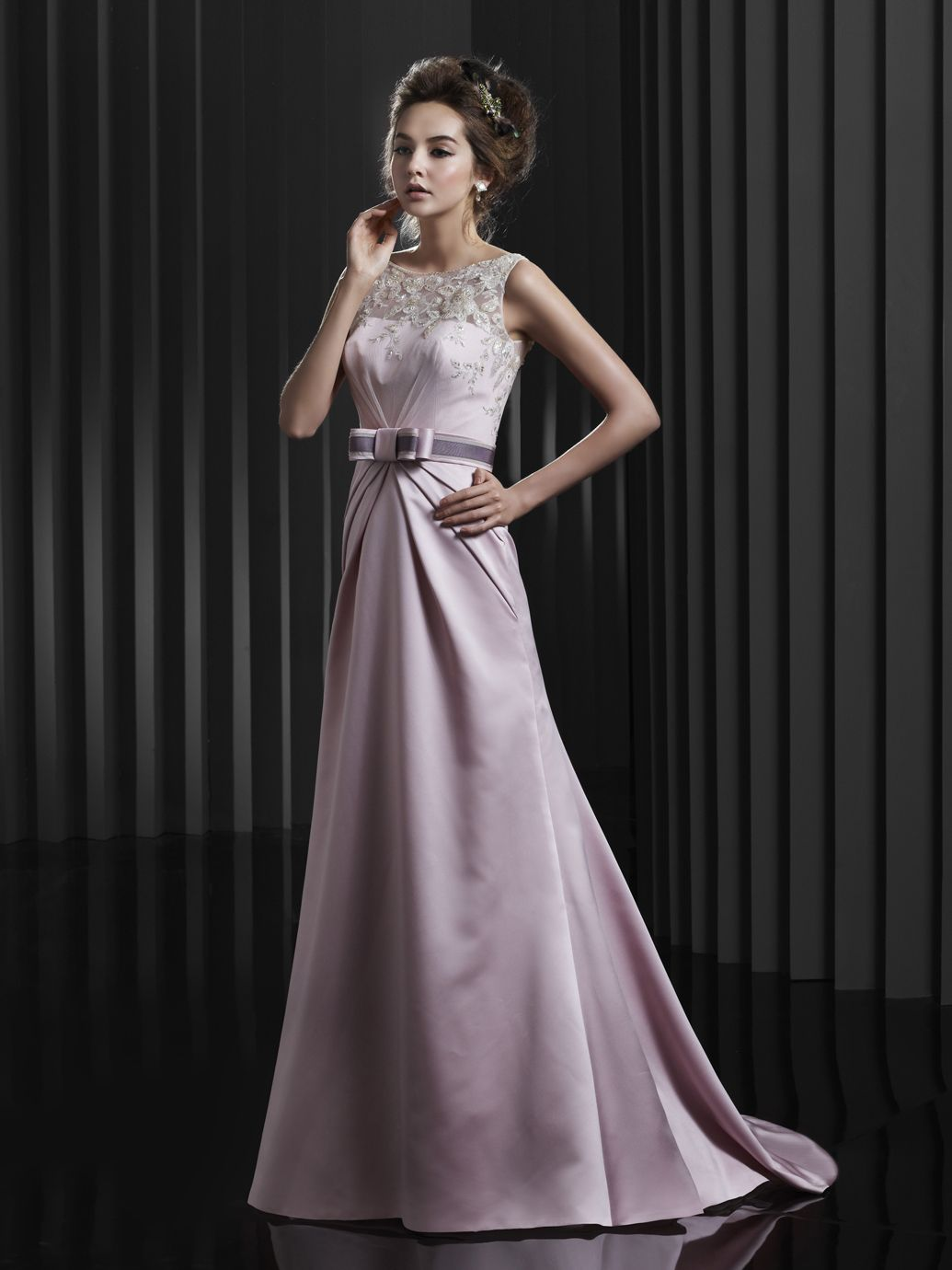 Rose colored wedding dress  BT  Beautiful Collection  Enzoani  Available Colours  Rose