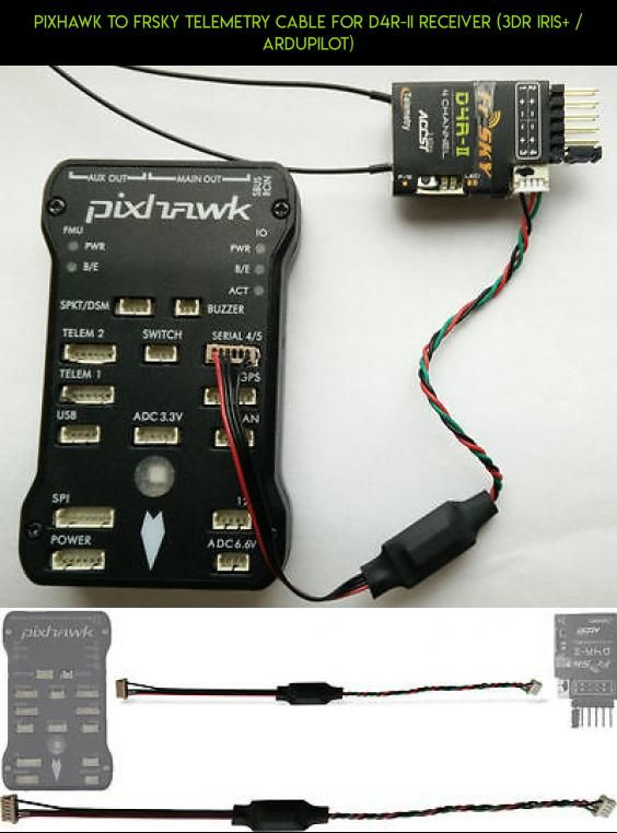 Pixhawk to FrSky telemetry cable for D4R-II receiver (3DR IRIS+
