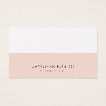 Beauty salon makeup artist modern professional business card beauty salon makeup artist modern professional business card professional gifts custom personal diy reheart Image collections