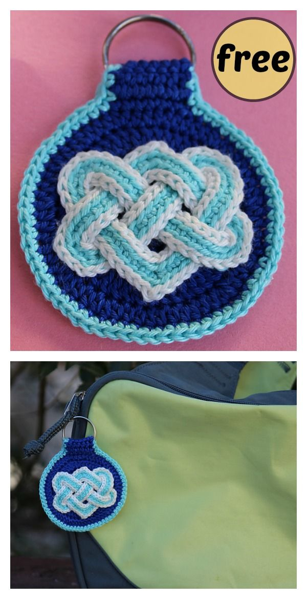 Beautiful Celtic Knot FREE Crochet Patterns   crochet   Pinterest ...