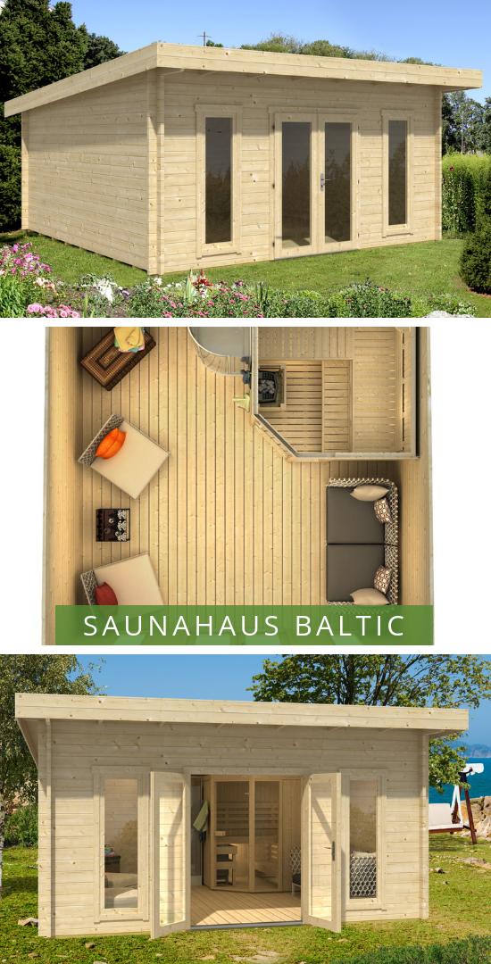 Saunahaus Baltic 44 Iso Das Saunahaus Fur Den Grossen Garten Neben Sauna Gibt Es Auch Einen Grossen Entspannung Saunahaus Gartenhaus Mit Sauna Saunahaus Garten