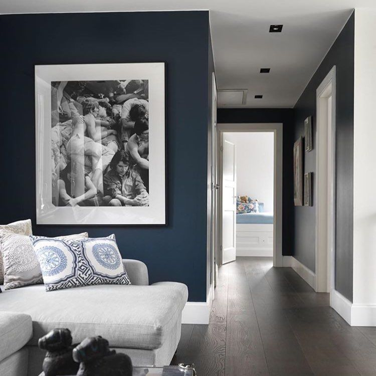Hague blue farrow ball living room pinterest for Bedroom inspiration farrow and ball