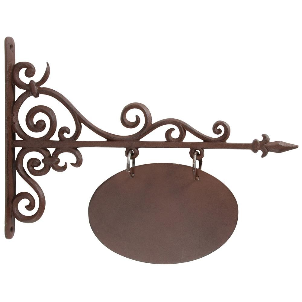 Cast Iron Outdoor Hanging Oval Sign | signs | Pinterest | Iron ...