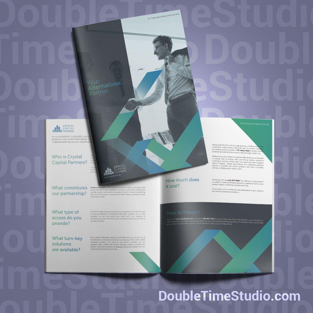 Brochure design for investment company  @doubletimestudio