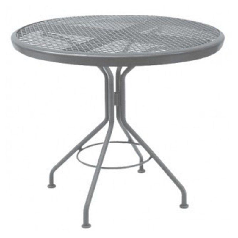 outdoor woodard iron cafe series mesh top iron 30 in. round patio, Esstisch ideennn