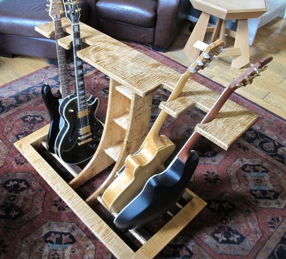 wooden multiple guitar stand plans google search wood works en 2019 guitar stand wooden. Black Bedroom Furniture Sets. Home Design Ideas