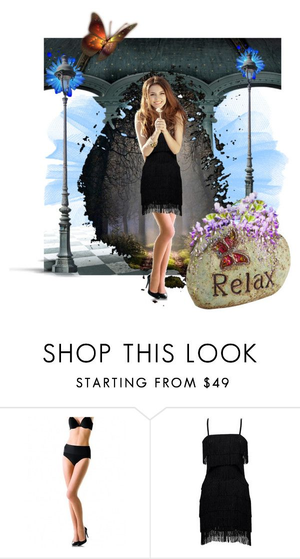 """""""So Excited.."""" by marlenajo-b ❤ liked on Polyvore featuring moda, SPANX, Iconic by UV e Pier 1 Imports"""