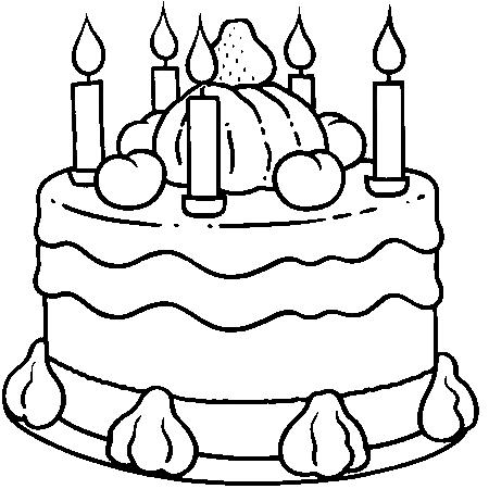 Dessin gateau anniversaire fille