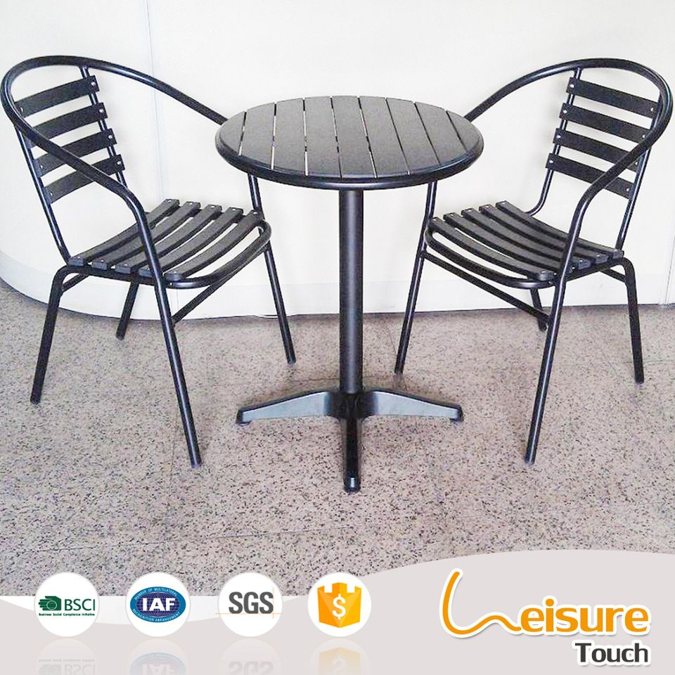 Superior Quality Cheap Black Aluminum Outdoor Coffee Table And Chair - Black aluminum outdoor coffee table