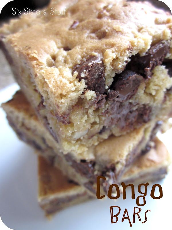 Congo Bars.  The yummy taste of cookies without all the work!