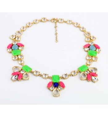 Min order 10$ new arrival fluorescent colorful pendant necklace from bemodia.com