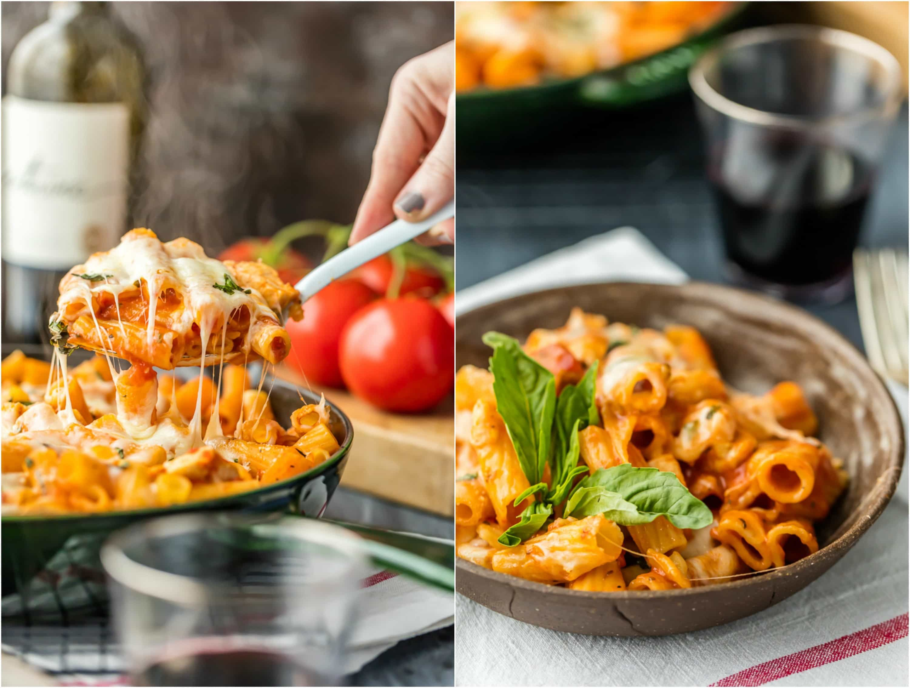 One pan chicken parmesan pasta skillet with only 6 ingredients easy peasy one pan chicken parmesan pasta skillet with only 6 ingredients this is our go to easy recipe anytime we are craving comfort food forumfinder Image collections