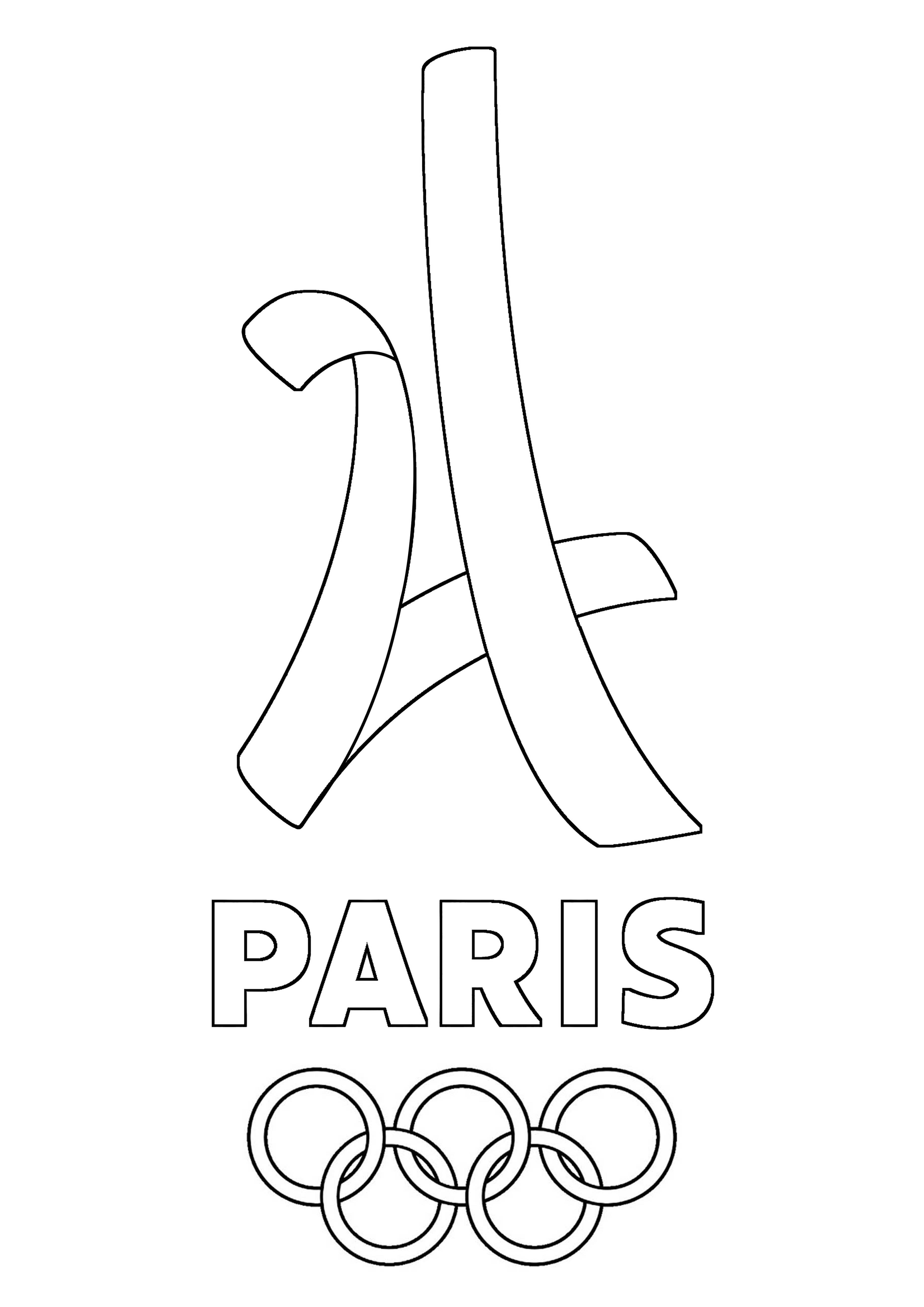 Coloriage Jeux Olympiques.Image Jeux Olympiques Coloriage Logo Paris 2024 Jeux