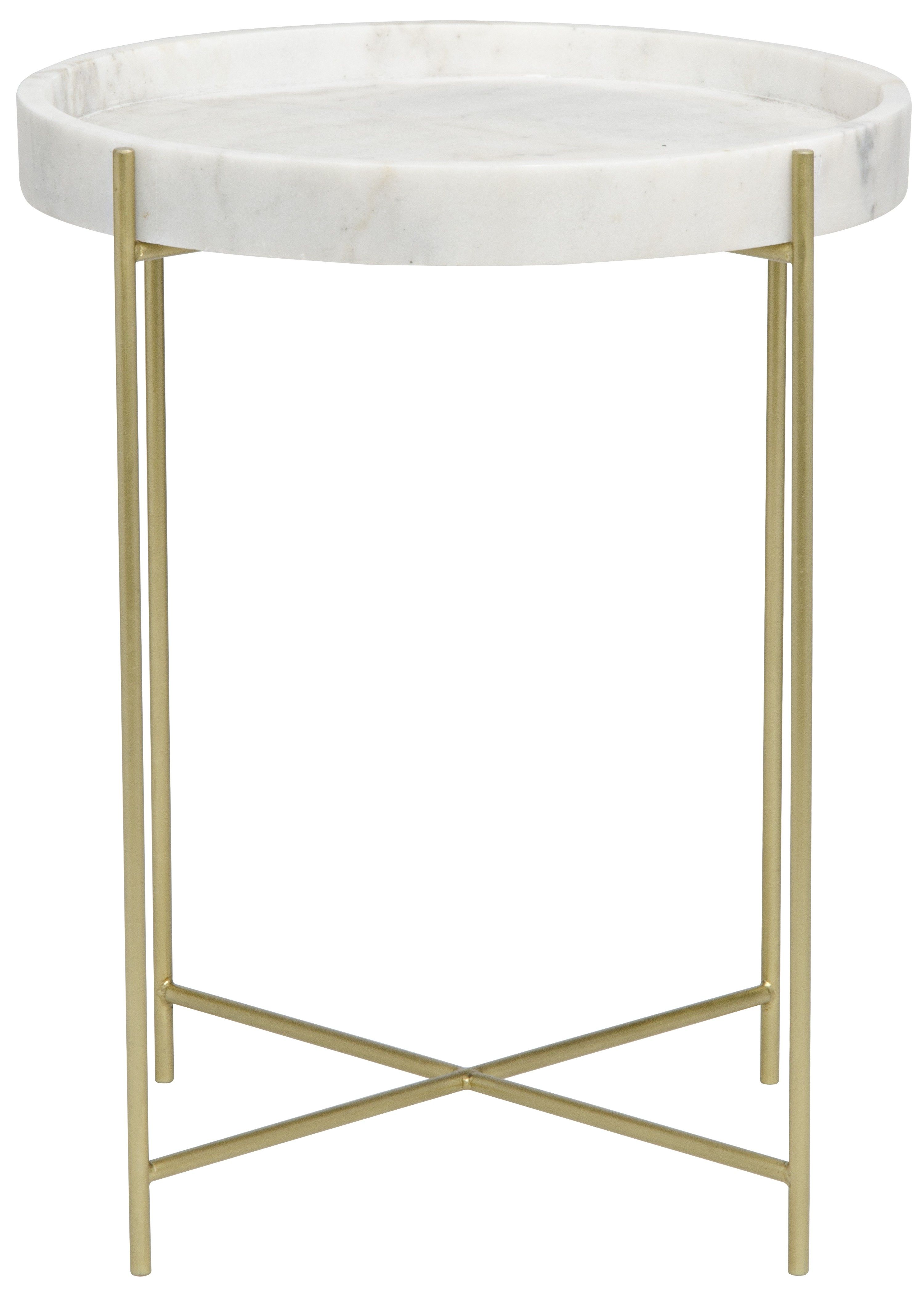 Thin Gold Bars Meet Sleek White Stone In This Space Saving And Eye Catching Design So Chic You Ll Be For Side Table Contemporary Side Tables Brass Tray Table [ 4185 x 3000 Pixel ]