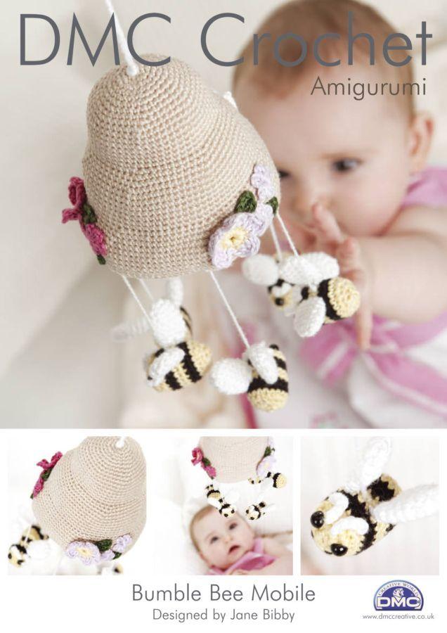 DMC Bumble Bee Mobile Crochet Pattern 14897L/2 | Babyspielzeug ...
