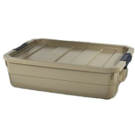 Shop Blue Hawk 10 Gallon Tote With Latching Lid At Lowes Com Renovation Hardware Bins Plastic Storage Totes