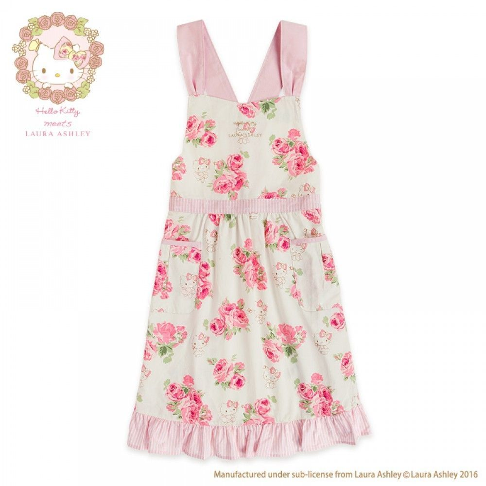 Hello Kitty x LAURA ASHLEY Apron Kitchen Cooking Wear Sanrio from ...