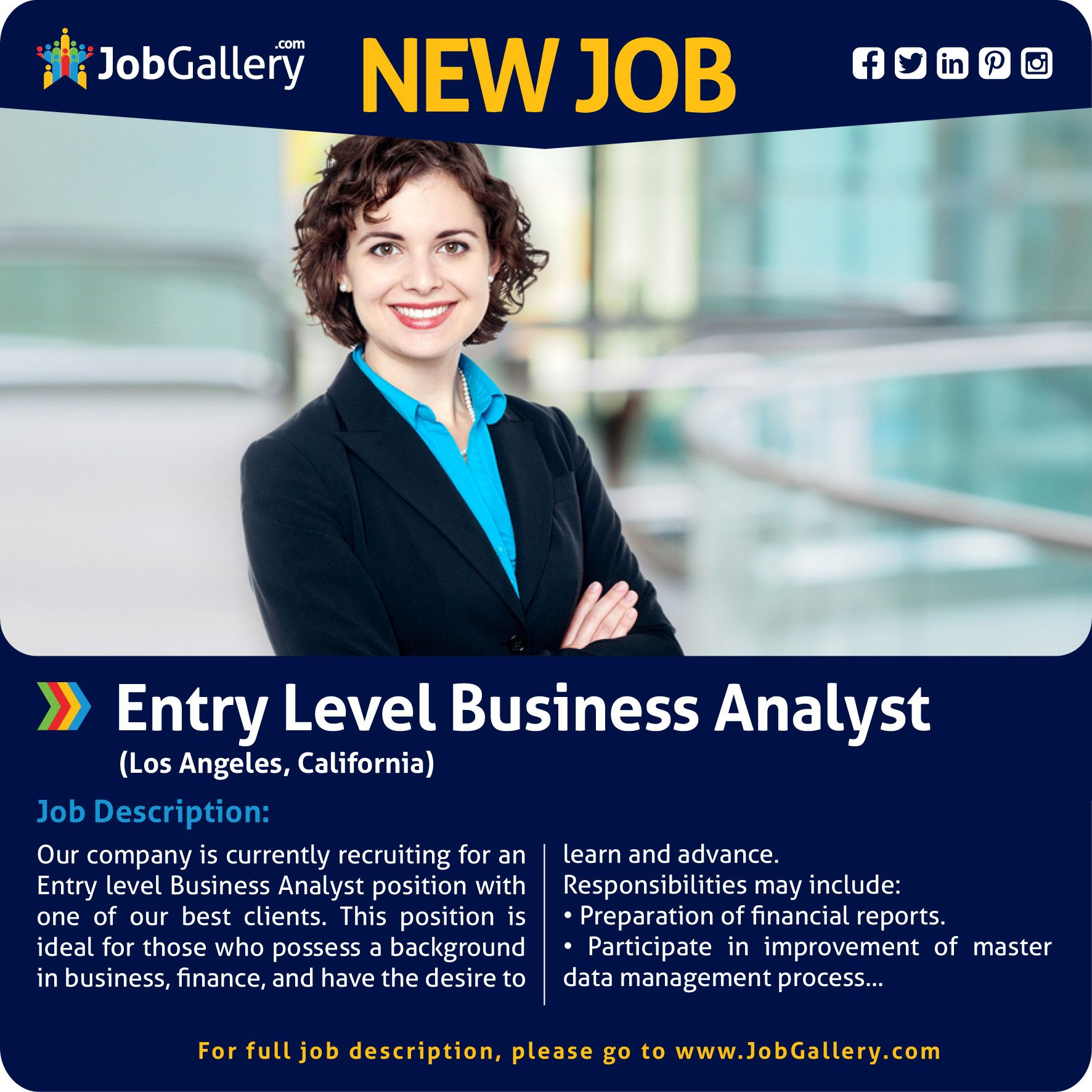 Entry Level Business Analyst Business Analyst Entry Level Job Opening