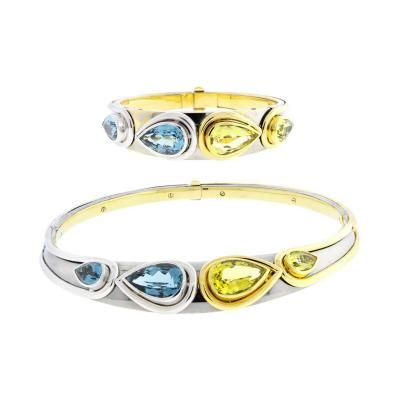 Photo of Mouawad – Mouawad Blue Topaz und Golden Beryl Halskette und Armband Suite