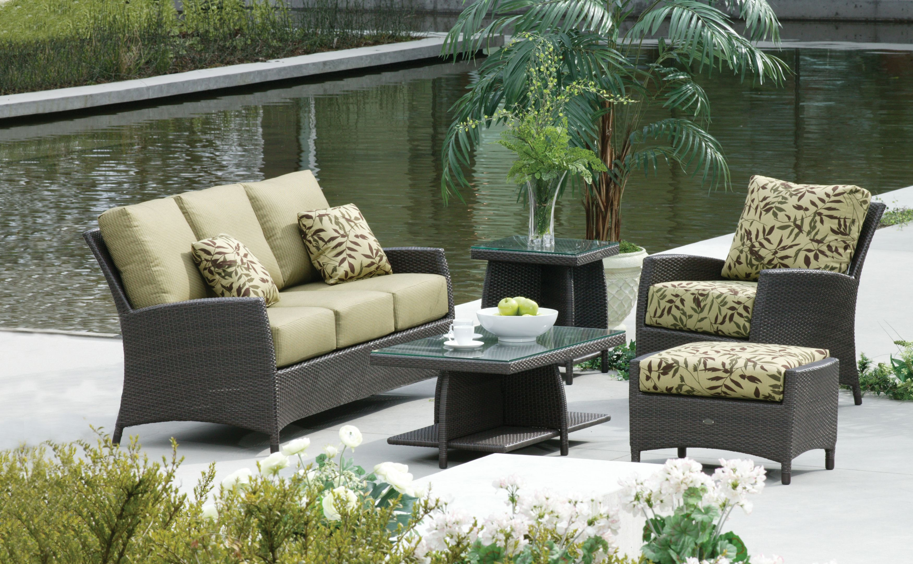 Ratana Outdoor Living Set. To View More Pieces Visit Our Website  Www.rattanplus.