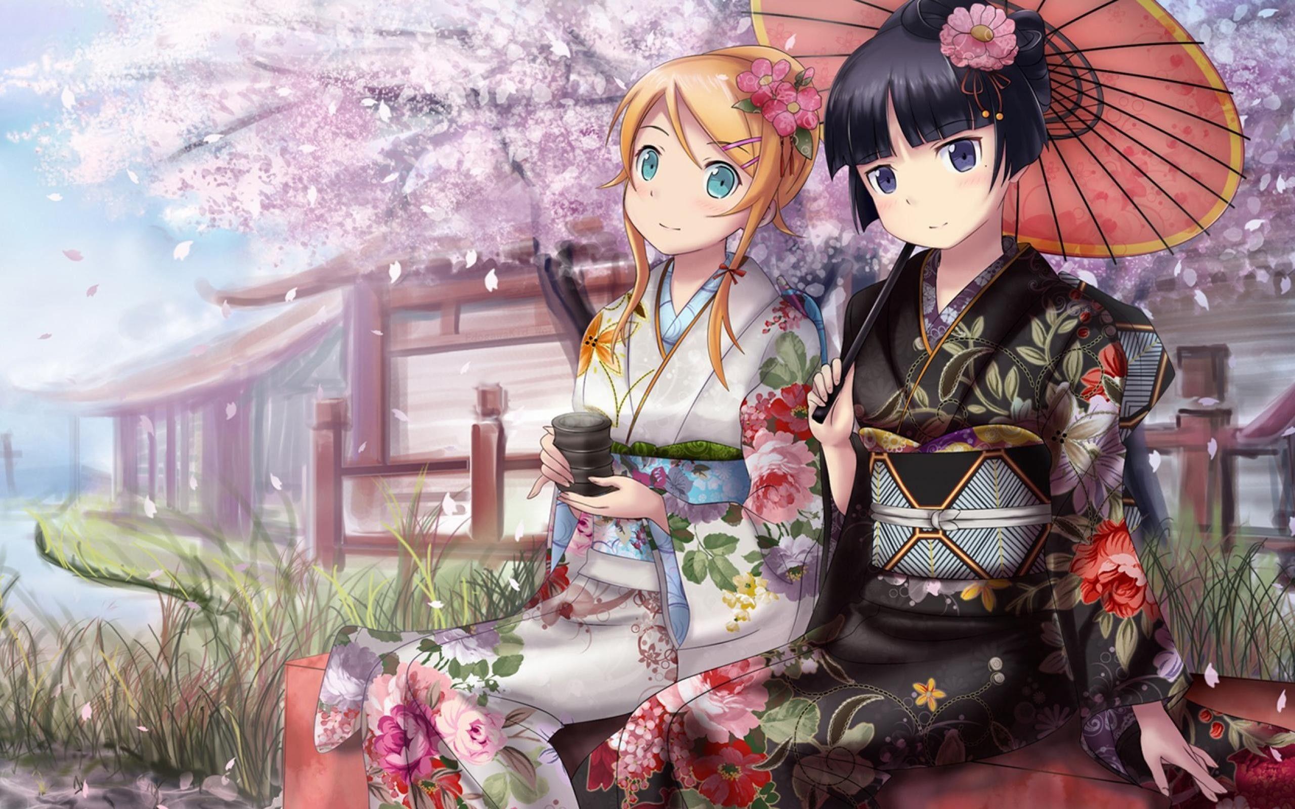 Image associée Anime, Anime kimono, Anime wallpaper