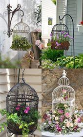 Photo of 72 atemberaubende Vogelkäfig-Blumenpflanzgefäße – Ideen für die Dekoration v…