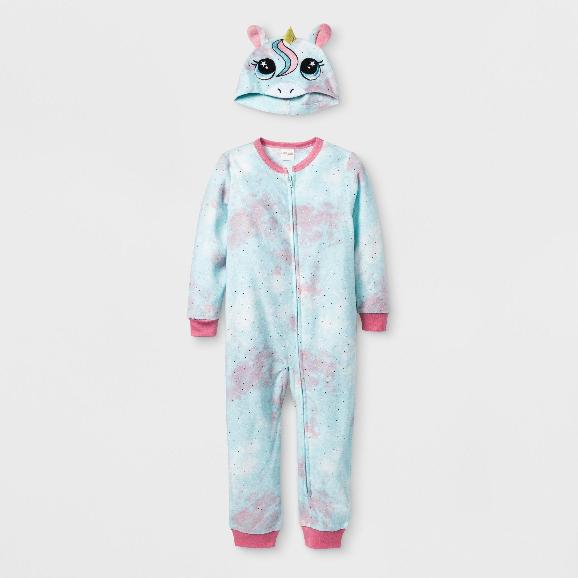 Toddler Girls  Unicorn Blanket Sleeper - Cat   Jack Pleasant Turquoise 4T 3123ca053