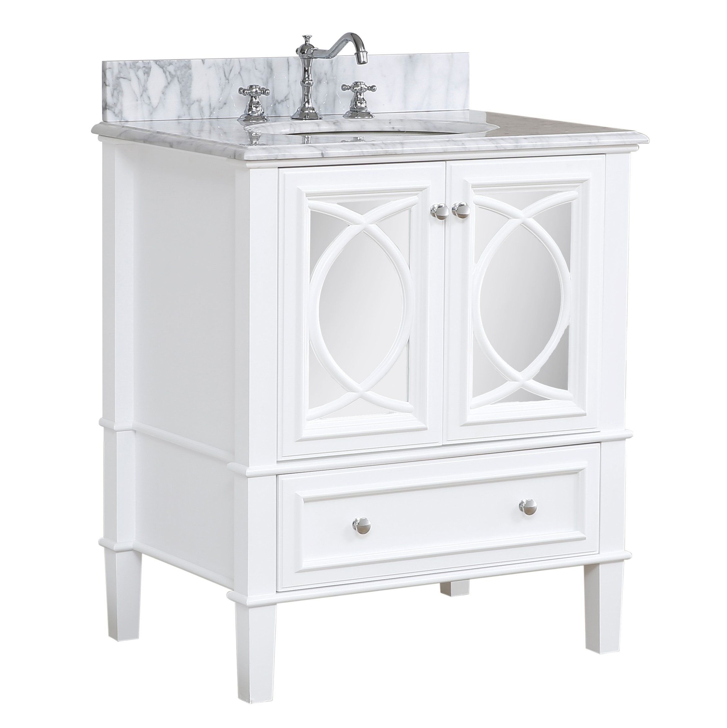 Olivia 30inch Vanity (Carrara/White) 30 inch bathroom