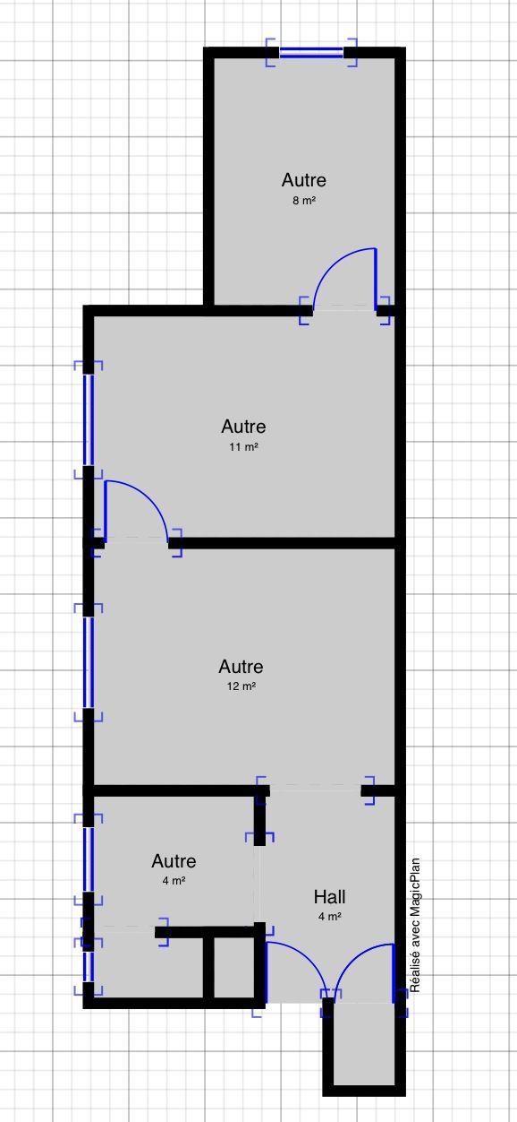 Voici le Plan actuel Entrée Dressing à droite Wc à gauche - Plan Electrique Salle De Bain