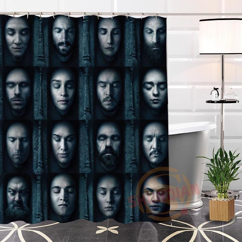 Game Of Thrones 2 Fabric Modern Shower Curtain Bathroom Waterproof Modern Shower Curtains Modern Shower Bathroom Shower Curtains