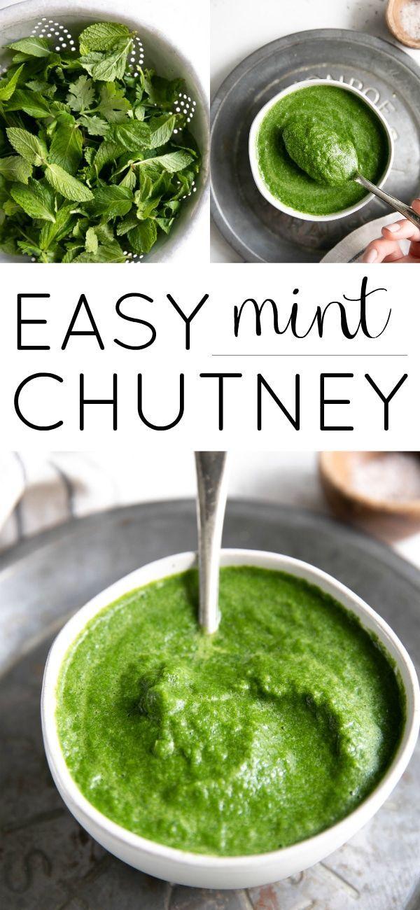Mint Chutney Recipe (Pudina Chutney) #mintchutney #mint #chutney #pudinachutney #glutenfree #sugarfree #vegan via @theforkedspoon
