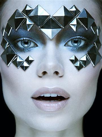 fantasy makeup | Futuristic Chrome Fantasy Shoot