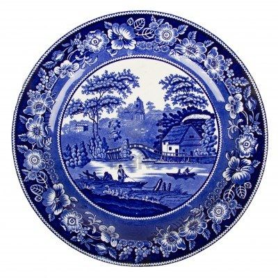 Very Old Dutch Plate Isolated On A White Background Plates Miniature Pottery Placemats