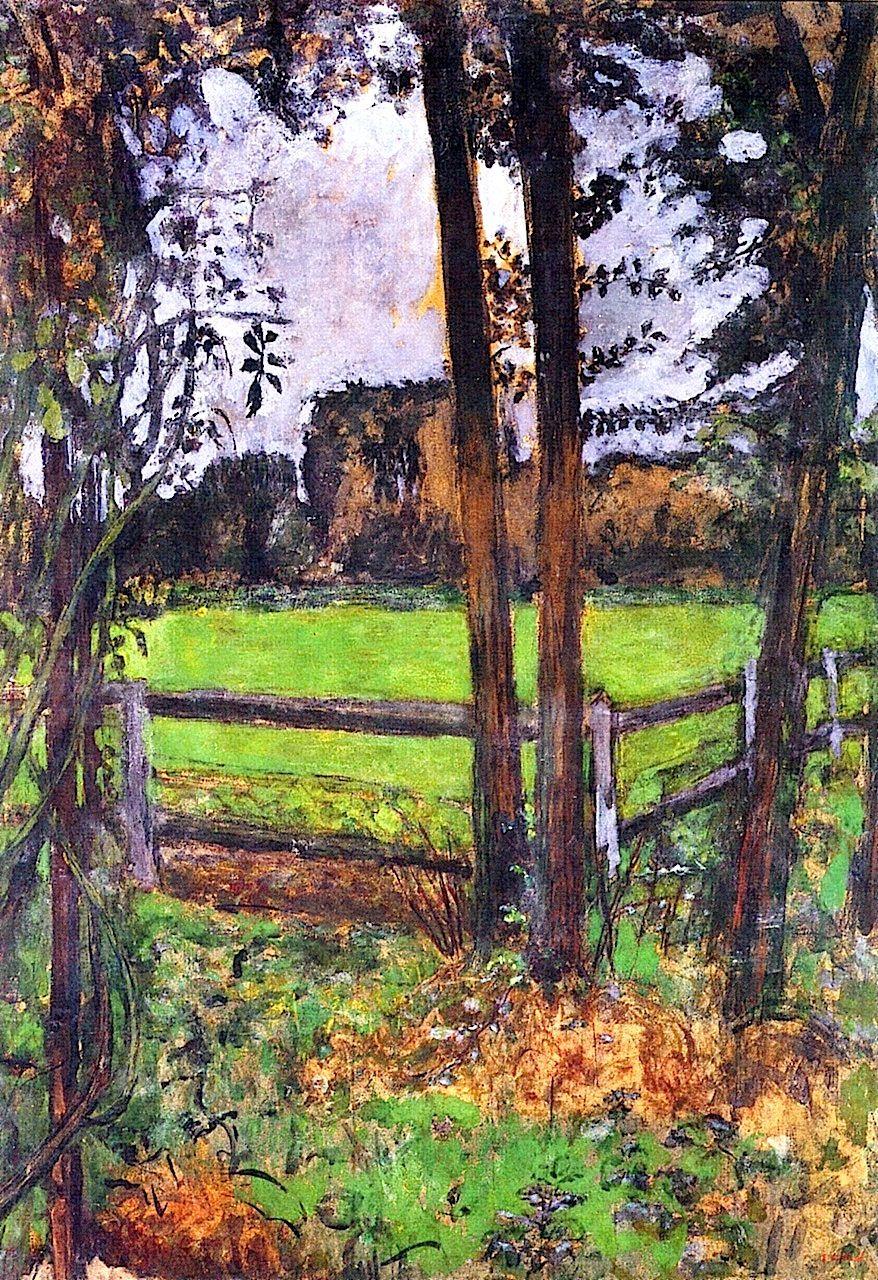 A Meadow (also known as The Garden of Madame Hessel) / Edouard Vuillard - circa 1930-1938