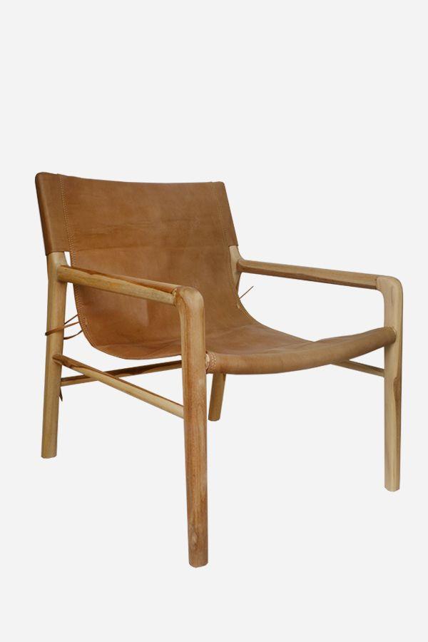 Fine Leather Sling Chair Teak Tan In 2019 Leather Living Inzonedesignstudio Interior Chair Design Inzonedesignstudiocom