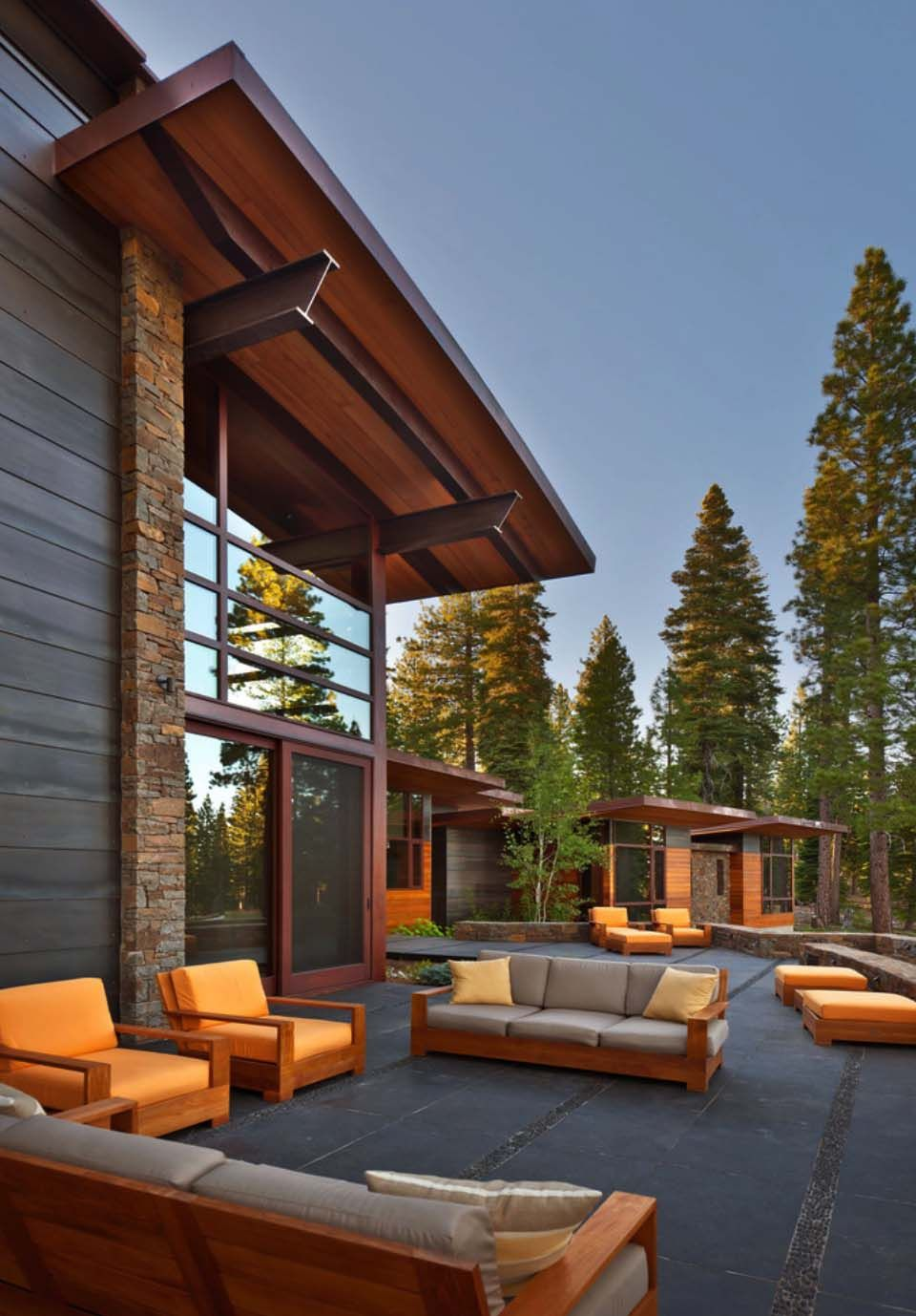 A Spectacular Modern Mountain Style Dwelling In Martis Camp Home Design Ideas