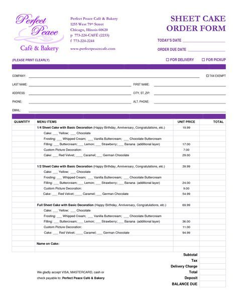 custom order form template free