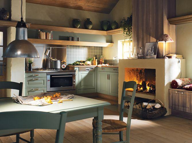 3 id es pour une cuisine de charme inspiration deco - Faire une cheminee en cuisine ...