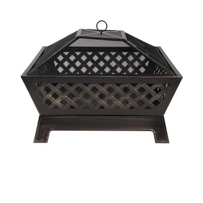 Steel Deep Bowl Fire Pit In Oil Rubbed Bronze Ofw832s The Home Depot
