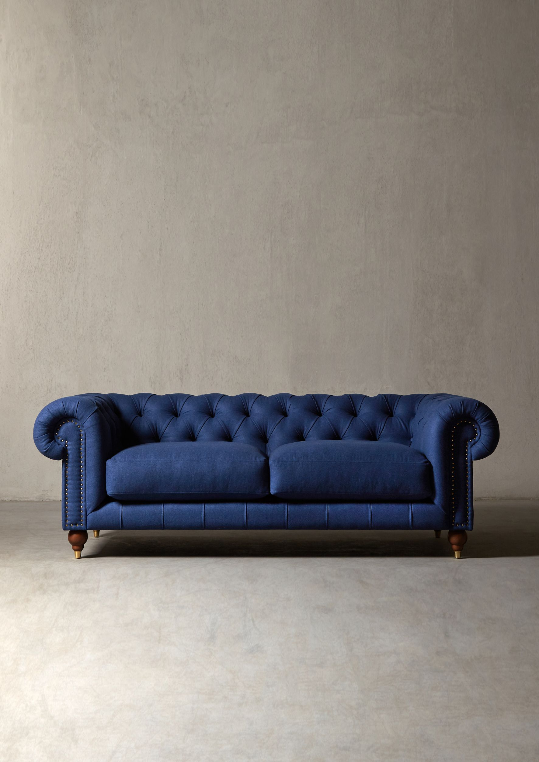 The Winston Sofa In Midnight Wool Swoon Editions Swooneditions Chesterfieldsofa Bluesofa