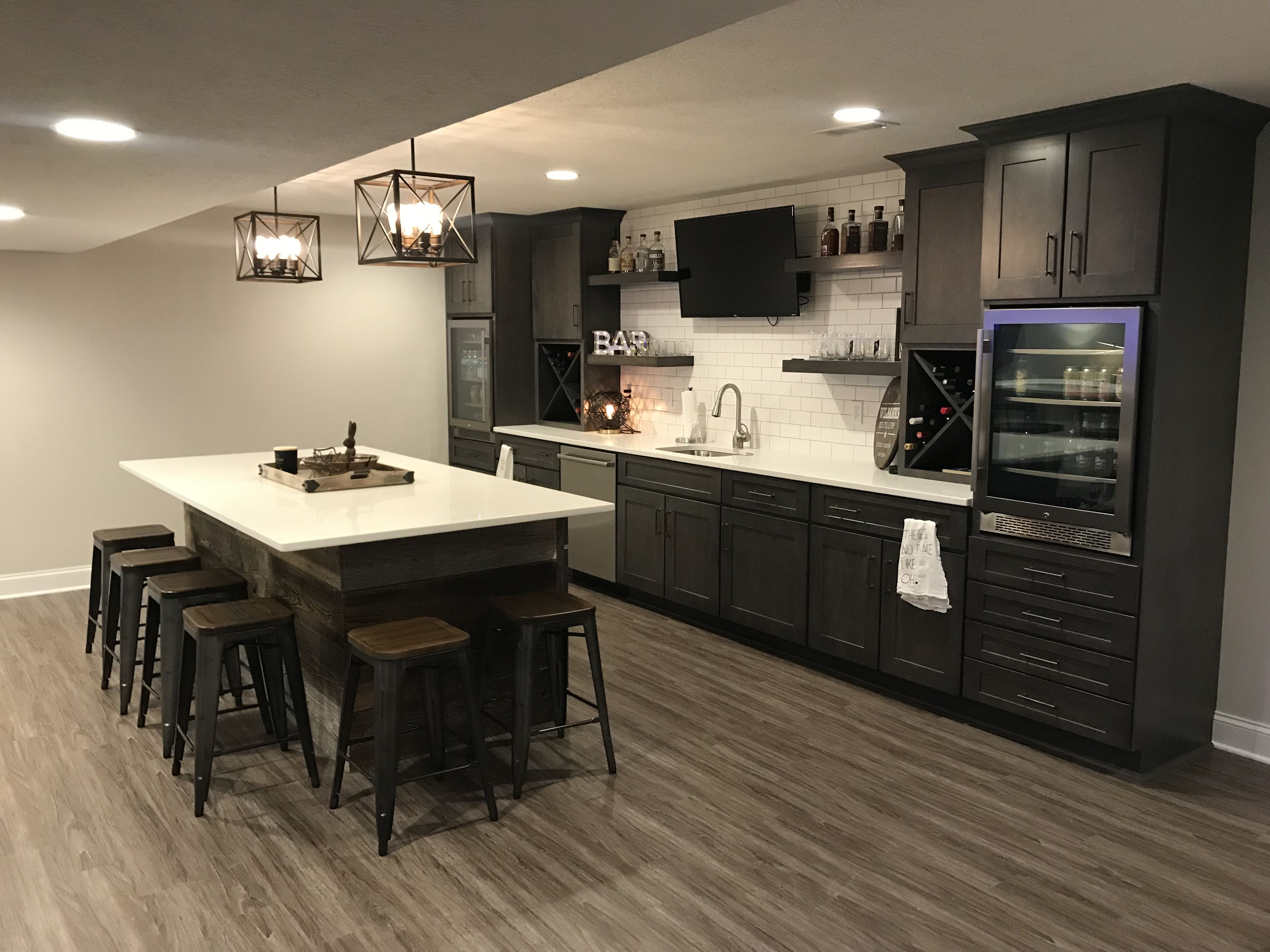 Fischer Homes Wheatland Finished Basement Bar Area Finished