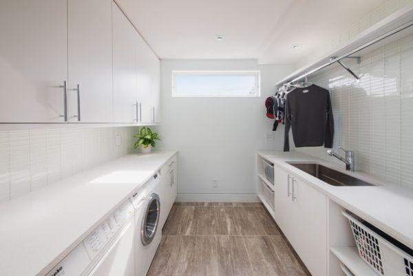 Waschküche einrichten - 33 Ideen für einen modernen Wäscheraum #allwhiteclothes
