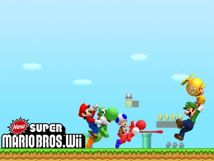 New Super Mario Bros Wii Wallpaper Super Mario Mario Super
