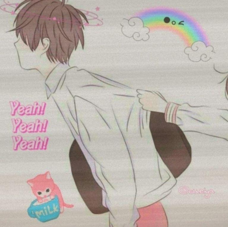 Couple Wallpaper Terpisah Anime Design Art Artists Ilustrasi Lucu Pasangan Animasi Animasi